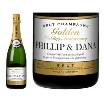 Golden Anniversary Personalised Champagne